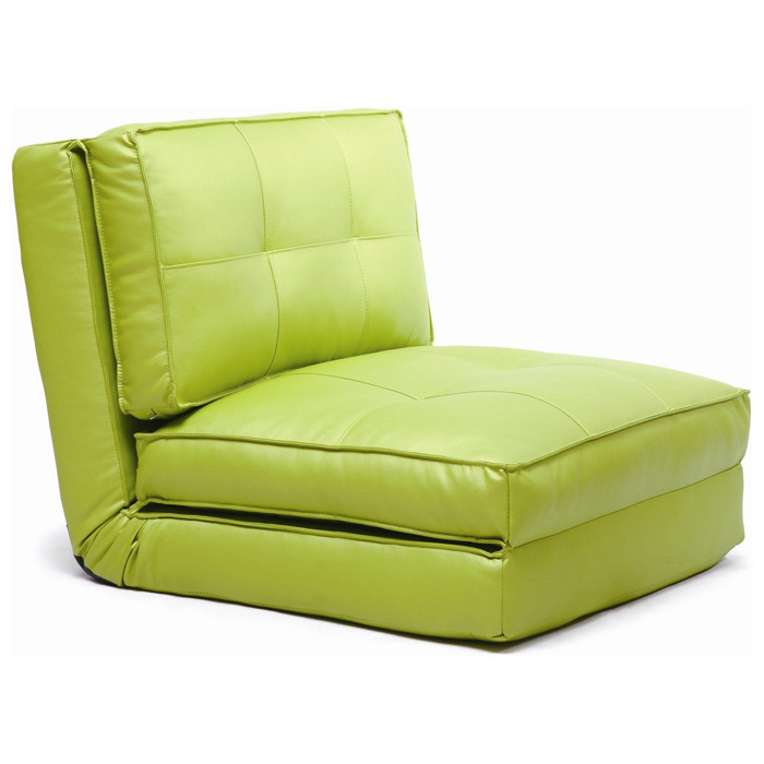 Brianna Sleeper Chair - Tufted, Folding, Single Bed, Green