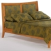 Chamomile Platform Bed with Folding Foot Bench - NDF-CHAMOMILE-FFB