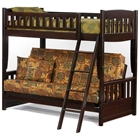 Cinnamon Twin Over Full Futon Bunk Bed