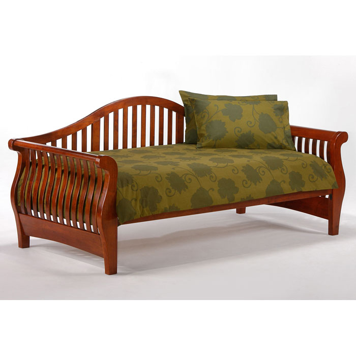 nightfall daybed in cherry daybeds daybed with trundle daybeds for sale   futon creations  rh   futoncreations