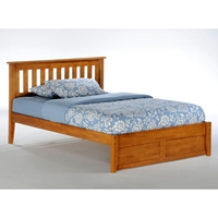 Rosemary Platform Bed with Footboard Panel