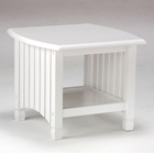 Keywest White End Table