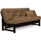 Armless Arden Espresso Complete Sit and Sleep Futon Set - Wood Frame, Mattress Options