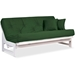 Arden White Futon Frame - Armless Design, Solid Hardwood Construction - NF-ARDN-SW
