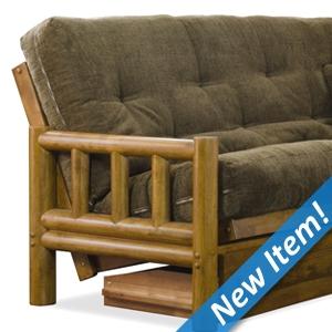 tahoe log futon set   heritage designer mattress made in usa futon sets    plete packages  rh   futoncreations