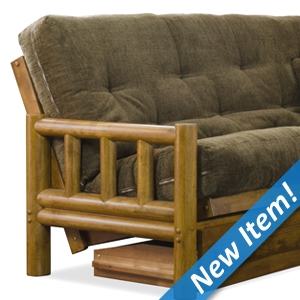 Tahoe Log Futon Set - Heritage, Designer Mattress Made in USA