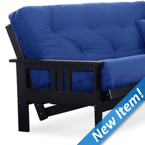 Orlando Wood Futon Frame - Black Finish, Full Size