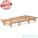 Tri-Fold Futon Lounger Set - Space Saving Design in Natural Wood Finish (Frame and Mattress) - NF-LNGR-SET#