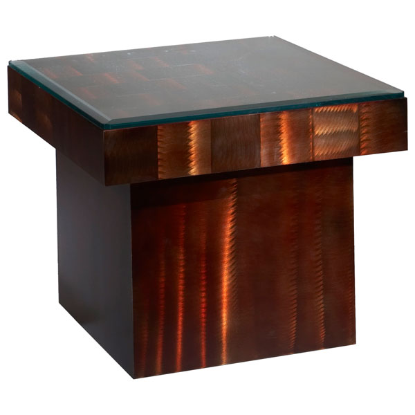 Root Beer Squared End Table