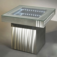 Square Infinity End Table in Aluminum