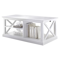 Halifax Rectangular Coffee Table - Pure White