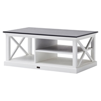 Halifax Contrast Rectangular Coffee Table - Pure White
