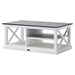 Halifax Contrast Rectangular Coffee Table - Pure White - NSOLO-T756CT