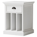 Halifax Bedside Table - 2 Dividers, Pure White - NSOLO-T757