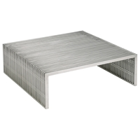 Amici Square Stainless Steel Coffee Table