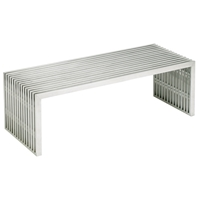 Amici Stainless Steel Coffee Table - Rectangle
