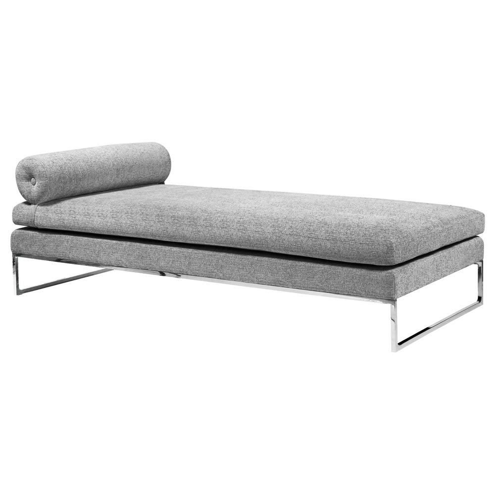 quba modern daybed   grey fabric daybeds daybed with trundle daybeds for sale   futon creations  rh   futoncreations