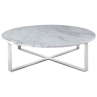 Rosa Round Marble Top Coffee Table