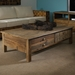 Salvaged Wood 2-Drawer Coffee Table - Cup Handles - PAD-SAL05