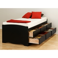 Blackbeard Twin Captain%27s Platform Storage Bed