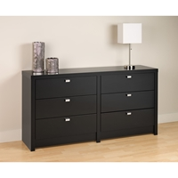 Series 9 Designer 6-Drawer Dresser - Black