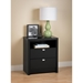 Series 9 Designer 2-Drawer Tall Nightstand - Black - PRE-BDNH-0529-1