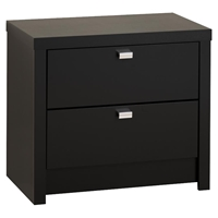 Series 9 Designer 2-Drawer Nightstand - Black