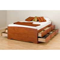 Blackbeard Full Captain%27s Platform Storage Bed