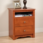 Monterey Tall Nightstand with Open Shelf