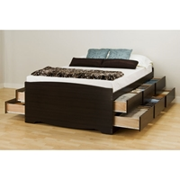 Blackbeard Queen Captain%27s Platform Storage Bed