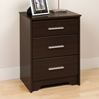 Coal Harbor Tall Nightstand with 3 Drawers
