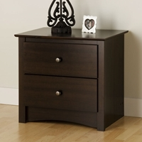 Fremont Espresso Nightstand with 2 Drawers
