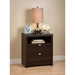 Series 9 Designer 2-Drawer Tall Nightstand - Espresso - PRE-EDNH-0529-1