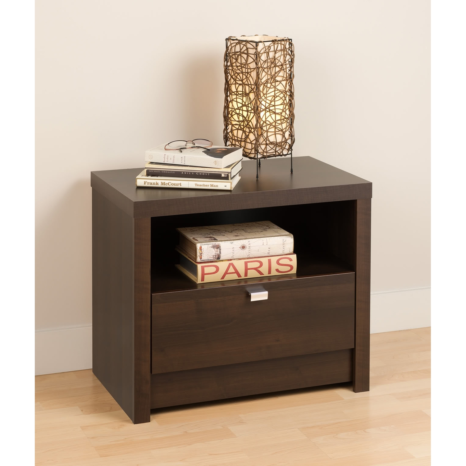 Series 9 Designer 1-Drawer Nightstand - Espresso
