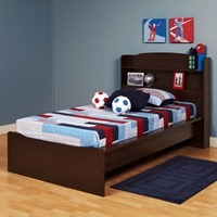 Aspen Twin Platform Bed with Headboard