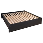District King Platform Bed - Washed Black
