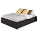 District Queen Platform Bed - Washed Black - PRE-HBPQ-0500-2K