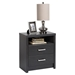 District Tall 2-Drawer Nightstand - Washed Black - PRE-HDNH-0529-1