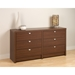 Series 9 Designer 6-Drawer Dresser - Warm Cherry - PRE-LDBR-0560-1