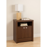 Series 9 Designer 2-Door Tall Nightstand - Warm Cherry