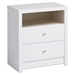 Calla Tall 2-Drawer Nightstand - Pure White - PRE-WDNH-0529-1