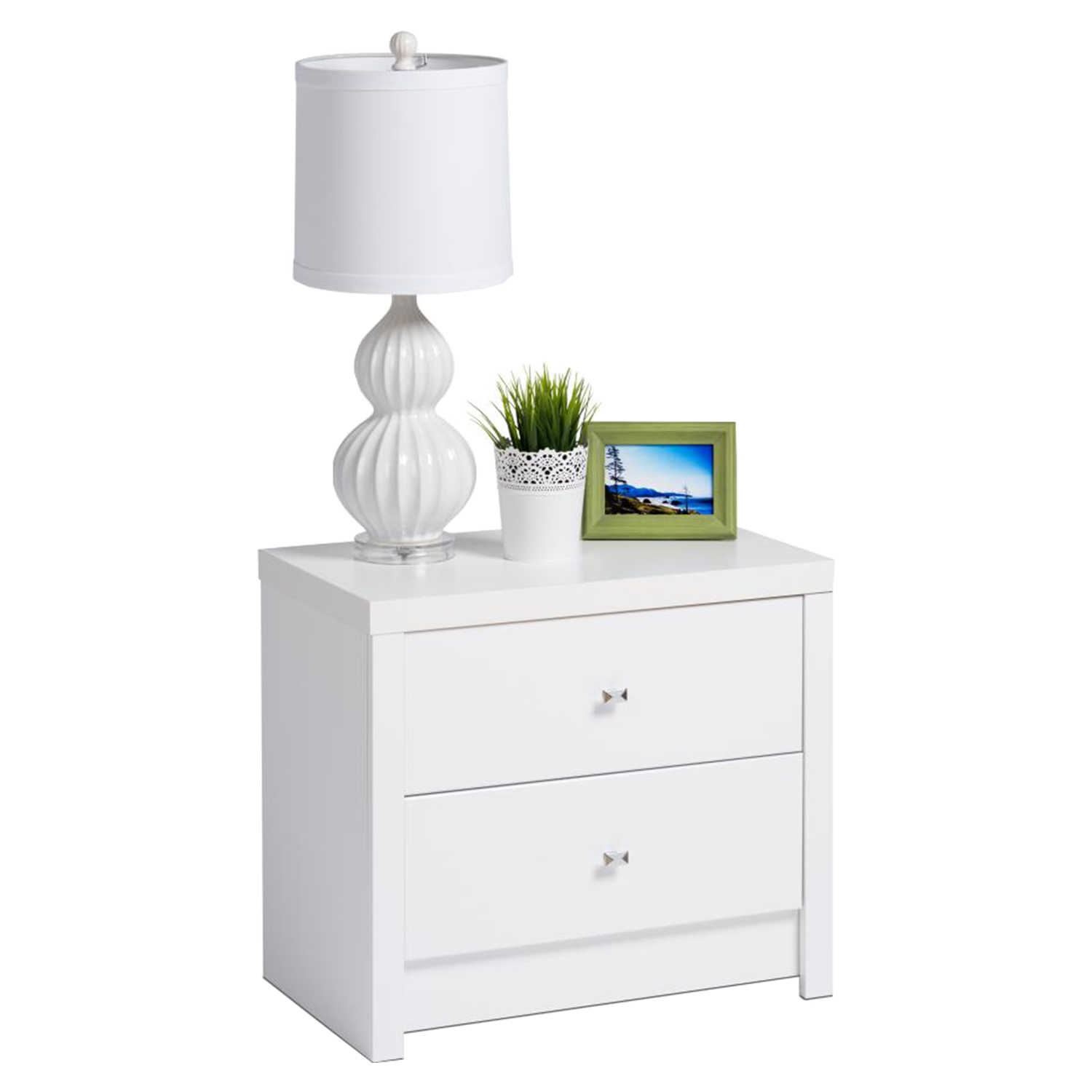 Calla 2-Drawer Nightstand - Pure White - PRE-WDNR-0520-1