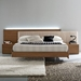 Edge Walnut Floating Bed - ROS-T4116043X5N29