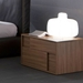 Square Walnut Nightstand - ROS-T4112000X0001