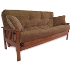 Austin Wood Futon Frame Set in Medium Balboa