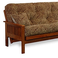 Ritz Wood Futon Frame Set with FREE Pillows