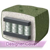 royal pocket coil 10 loveseat futon mattress with designer cover loveseat size futon mattresses   futoncreations  rh   futoncreations