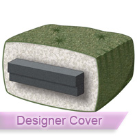 silver 6 chair futon mattress with designer cover 6 inch thick futon mattress bed cushions   futon creations  rh   futoncreations