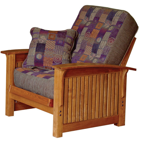 Hastings Oak Futon Chair Set with Cover