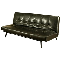 Monaco Convertible Sofa in Black